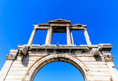 Handrian arch in Athens, Greece royalty free stock photos