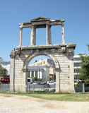 Handrian's gate of new city of Athens royalty free stock photography