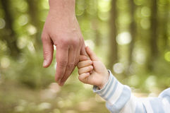 Hands. Two hands over nature background Royalty Free Stock Images