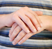 Hands. Crossing male hands close up royalty free stock photo