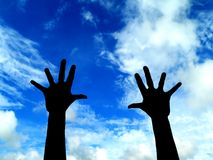 Hands. Put your hands in the air Stock Photography