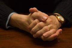 Hands. Together royalty free stock images