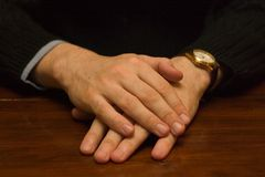 Hands. Together stock photography