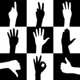 Hands. Silhouette  sign illustration vector Stock Photo