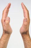 HANDS. A male hands holding anything Royalty Free Stock Images