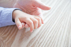 Hands. Parent and child who grasps its hand Stock Images
