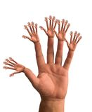 Hands. Many hands make light work Royalty Free Stock Images