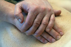 The hands. Which are doing the massage Royalty Free Stock Image