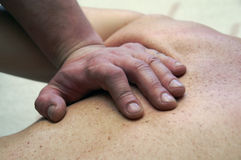 The hands. Which are doing the massage Royalty Free Stock Photo