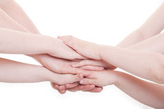 Hands. Of children and adults Stock Images