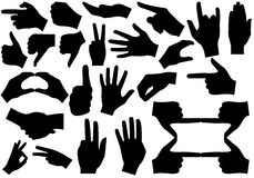 Hands. Illustration of gesticulation hands on white background Royalty Free Stock Images