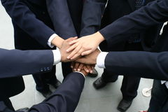 Hands. Many hands joined together depicting team effort Royalty Free Stock Photos