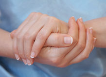Hands. Soft hands royalty free stock photo