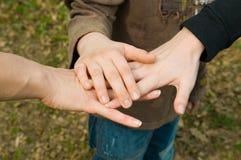 Hands. Consensus, corporate, crew, dedicated royalty free stock photo