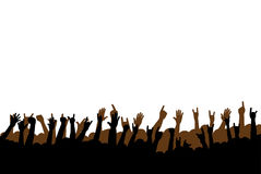 Hands. Concert or party hands raised up Royalty Free Stock Photo