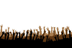 Hands. Concert or party hands raised up Royalty Free Stock Images