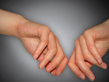 Hands. 2 woman hands Stock Photography
