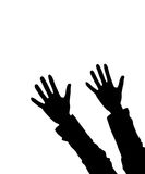 Hands. Illustration of two hands lifted upwards, as a background Royalty Free Stock Images
