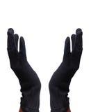 Hands. Men open hands with killer gloves Royalty Free Stock Photos