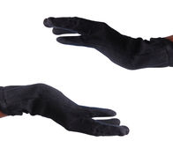 Hands. Men open hands with killer gloves Stock Images