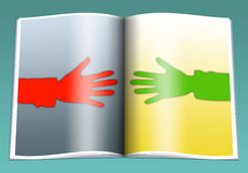 Hands. The hands stretched to each other from the various parties Royalty Free Stock Image