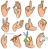 Hands. Vector  illustration of hands. Useful for the instruction how to create sth Royalty Free Stock Photography