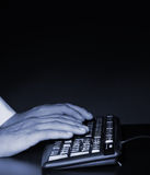 Hands above the keyboard Stock Image