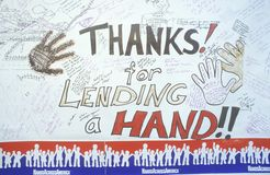 Hands Across America Sign, Los Angeles, California Royalty Free Stock Photography