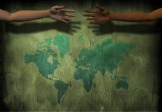 Hands across the world Stock Photos