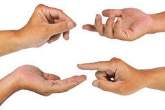 Hands in action with clipping path Stock Image