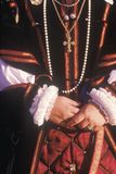 Hands of Actress Playing Queen Elizabeth, Agoura, California Stock Images