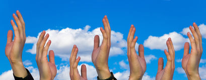 Hands in the air Royalty Free Stock Photography