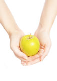 Hands And Apple Royalty Free Stock Photography