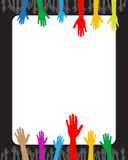 Hands And Banner Stock Images