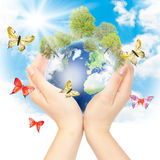 Hands And Earth Royalty Free Stock Photography