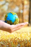 Hands And Earth Royalty Free Stock Images