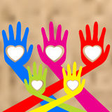 Hands And Heart. EPS 8 Stock Images