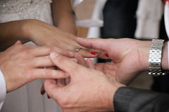 Free Hands And Wedding Rings Royalty Free Stock Images - 45141659