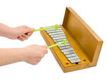 Hands And Xylophone Royalty Free Stock Photo