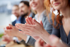 Hands applauding Royalty Free Stock Photography