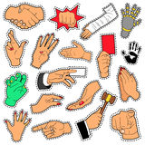 Hands and Arms Set with Different Signs for Scrapbook, Prints and Stickers Stock Photo