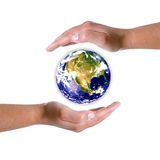 Hands Around Earth Globe - Nature And Environment Stock Photography