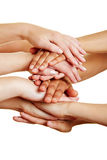 Hands as concept for help and support royalty free stock photos