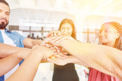 Hands as sign of teamwork Stock Photography