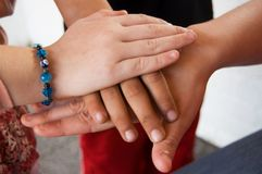 Hands as a team Stock Photography