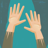 Hands asking for help Royalty Free Stock Images