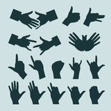 Hands. Authors illustration in vector Royalty Free Stock Photo