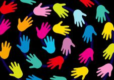 Hands, Background, Black, Colorful Royalty Free Stock Photos