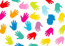 Hands, Background, Black, Colorful Stock Photos