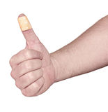 Hands with band-aid adesive  plaster Stock Image